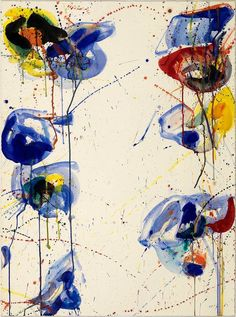 """elegantiaearbiter: """"Untitled, by Sam Francis, Smithsonian American Art Museum, Washington. Tachisme, Action Painting, Jackson Pollock, Contemporary Abstract Art, Modern Art, Sam Francis, Robert Motherwell, American Artists, Abstract Expressionism"""
