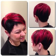 Dramatic two-tone under colour and edgy cut by Jolan.