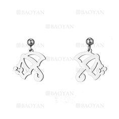 aretes de paragua de plateado en acero para mujer-SSEGG954434