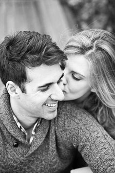 engagement photos only the other way around. he sends this one to his family and she sends one with him kissing her to her family