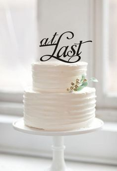 Personalized Acrylic Traditional Design At Last Rustic Cake Topper for Wedding