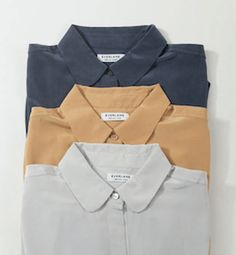 Everlane silk blouses - October