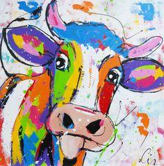 Vrolijke gekleurde koe by Renate
