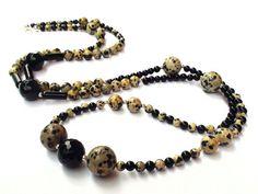 Elegant Gift Beaded Bracelet Necklace Onyx by OlgaJewelryBoutique