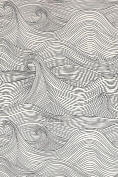 Seascape wallpaper is a best seller at Covered Wallpaper. It's quite, calming pattern brings the sea into your home. Order a sample today! Cover Wallpaper, Trendy Wallpaper, Wall Wallpaper, Wallpaper Online, Wallpaper Samples, Wave Drawing, Ocean Drawing, Surf Art, Gravure