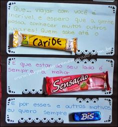 frases com bombons - Pesquisa Google Chocolates, Snack Recipes, Snacks, Holidays And Events, Diy And Crafts, I Am Awesome, Candy, Food, Romances