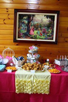 "Photo 16 of 100: Princess / Birthday ""Shabby Chic Baby Princess 1st Birthday Party"" | Catch My Party"