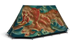 The Spirit of the Sea Tent 2 Person Tent, Tent Design, Power Animal, Cool Tents, Festival Camping, Extreme Weather, Sea Creatures, Signature Style, Outdoor Blanket