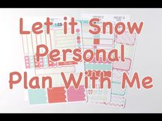 Personal Plan With Me - Let it Snow