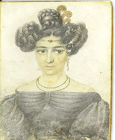 """""""1830's portrait of a New Orleans free woman of color"""" -Southern Folk Artist & Antiques Dealer/Collector: Julien Hudson New Orleans Antebellum free man of color artist"""