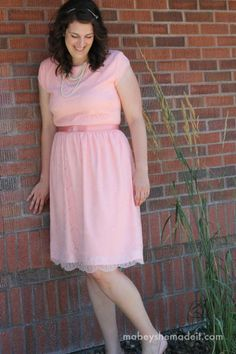 e312bcd25a9d0 Lengthening a Dress Tutorial--Mabey She Made It Sewing Alterations