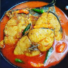Spicy Recipes, Fish Recipes, Indian Food Recipes, Asian Recipes, Vegetarian Recipes, Cooking Recipes, Asian Foods, Malaysian Cuisine, Malaysian Food