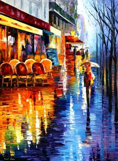 CAFE IN PARIS - LEONID AFREMOV by ~Leonidafremov on deviantART