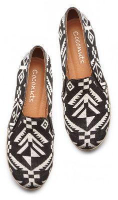 Black and White Geometric Printed Sneakers