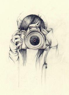 Cute tumblr drawing | hipster | camera tumblr girl posts
