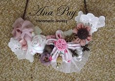 Delicated Flowers Necklace by AnaPuyJewelry on Etsy