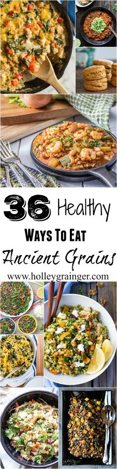 36 Healthy Ways To Eat Ancient Grains (Ingredients To Avoid Vegan) Healthy Comfort Food, Healthy Cooking, Healthy Eating, Cooking Recipes, Teff Recipes, Vegetarian Recipes, Healthy Recipes, Millet Recipes, Alkaline Recipes