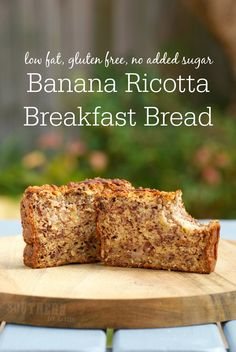 This hearty Banana Ricotta Breakfast Bread will give you the energy you need to kick-start your day! It is also low fat, gluten free, refined sugar free, egg free and absolutely delicious!