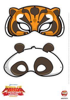 Tu as envie de te déguiser en Pô ou en Tigresse ? Imprime vite ces gabarits et colles-les sur un support cartonné !