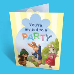 Peter Rabbit Party Invitation