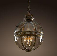 レストレーションハードウェア(Restoration Hardware)ペンダント照明/Victorian Hotel Pendant Antique Brass