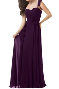 Angel Bride A-Line Sweetheart Straps Evening Dresses Party Birthday Gowns Grape- US Size 17W