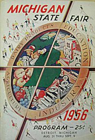 1956 Program MI State Fair   The Silver cup Rocket made its debut at the Michigan State Fair on September 3, 1954