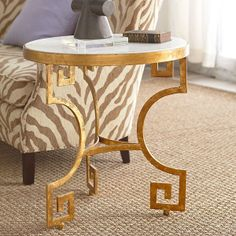 Wisteria - Furniture - Shop by Category - Accent Tables & Pedestals -  Grecian Gilt Key Table - $499.00