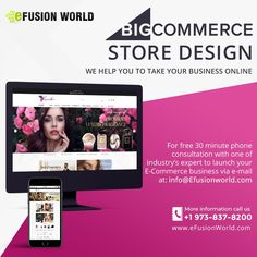 We Help You To Take Your Business Online! For FREE 30 minute phone consultation with one of industry's expert to launch your E-Commerce business via e-mail at info@efusionworld.com. Call : +1 973-837-8200 | Web : www.efusionworld.com E Commerce Business, Online Business, Responsive Web Design, Web Design Services, Store Design, Ecommerce, Product Launch, Website Designs, Graphic Design