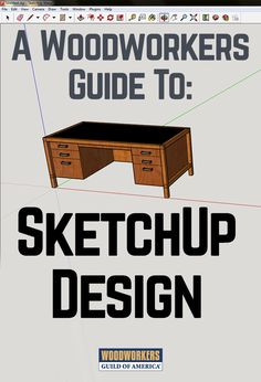 Prior to SketchUp, I just made designs with pencil and paper and a couple of general computer applications that were not intended for furniture design. I felt constrained, and the limitations of the tools were negatively affecting my designs. I wanted t Sketchup Woodworking, Learn Woodworking, Woodworking Techniques, Woodworking Crafts, Woodworking Plans, Woodworking Courses, Woodworking Basics, Woodworking Patterns, Woodworking Magazine