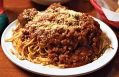 Spaghetti is a Tontitown point of pride. Each year, the town congregates at St. Joseph's Church for the Italian Spaghetti Dinner where the noodles are handmade and the sauce takes several days to cook. This plate comes from the Venesian Inn.