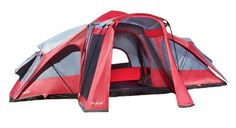 Pin it! :) Follow us :))  zCamping.com is your Camping Product Gallery ;) CLICK IMAGE TWICE for Pricing and Info :) SEE A LARGER SELECTION of 7 ++ persons camping tents at http://zcamping.com/category/camping-categories/camping-tents/7-plus-person-tents/ - hunting, camping tents, camping, camping gear -  Lightspeed 3 Room 8 Person 17.5 X 15 Compound Tent, Red/Gray « zCamping.com