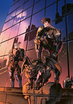 Arkham knight fan art by JJMK Batman Arkham Knight, Batman Arkham Origins, Batman Arkham City, Gotham City, Joker Batman, Batman Artwork, Batman Comic Art, Batman Wallpaper, Batman Robin