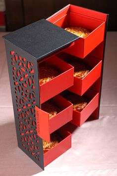 looks like a small box but like the idea for a cabinet Packaging Nets, Box Packaging, Packaging Design, Graphisches Design, Cute Box, Ideias Diy, Luxury Packaging, Chocolate Packaging, Moon Cake