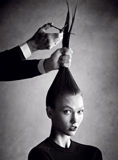 """Karlie's New 'Do"" | Model: Karlie Kloss, Photographer: Patrick Demarchelier, Vogue US, January 2013"