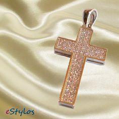 Cruz de plata y circonitas www.estylos.es