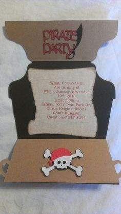 Kindred Kreations: Pirate Party Invitation for Exploring Cricut!
