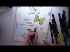 Mixed Media Journaling in Colour Tutorial #1 'Dare to spread your wings'