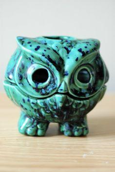 Turquoise Owl candle holder!