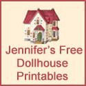 Free Printable Dollhouse Wallpaper Vintage and Modern: great website with lots of links to printable dollhouse wallpaper, toys, groceries, magazines etc.etc.