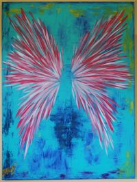 wings painting by suzy