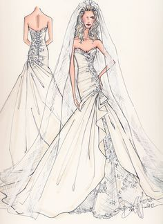 wedding dresses illustrations - Google Search