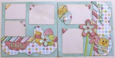 Embrace spring with this darling Easter layout idea by Susan Budge.