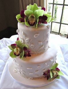 Tropical orchids cake Cup Cakes, Cupcake Cakes, Orchid Cake, Cake Decorating, Decorating Ideas, Dream Wedding, Wedding Dress, Good Enough To Eat, Pretty Cakes
