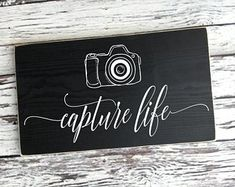 handmade wood signs & home decor by SignsbyJen on Etsy Wood Signs Home Decor, Inspirational Signs, Camera Photography, Etsy Seller, Unique Jewelry, Handmade Gifts, Life, Awesome, Kid Craft Gifts
