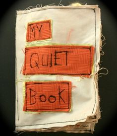 cloth book from scraps - I have to make one for my son!