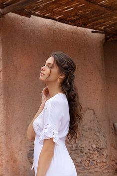 White Dress, Dresses, Fashion, Woman, Vestidos, Moda, White Dress Outfit, Fasion, Dress