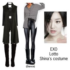 """Shina's costume for Lotto"" by pantsulord on Polyvore featuring La Perla, Alyx, Christian Louboutin, Boohoo and Sans Souci"