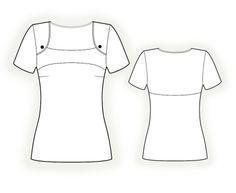 Blouse With Yoke Sewing Pattern #4321