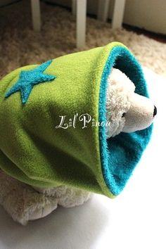 snood enfant r versible  toile anis-curacao - Photo de Things to wear -  LilPinou 38349092c9d